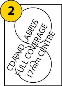DVD/CD-Etiketten pro Seite X 100Blatt, Avery L7676& j876kompatibel, weiß blanko Multi-Funktion selbstklebend, bedruckbar mit Kopierer, (Getto D'inchiostro Bianco Cd Dvd Etichette)