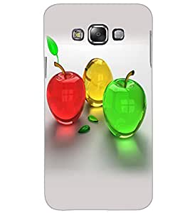 SAMSUNG GALAXY E7 COLORFUL APPLES Back Cover by PRINTSWAG