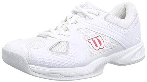 Wilson NVISION CARPET Herren Tennisschuhe Mehrfarbig (White/White/Pearl Gray)