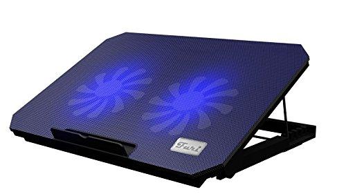 "LS Premium Notebook Kühler LS200C | Laptop Cooling Pad Ständer| 2x Lüfter / 140mm Fan | mit 2 x USB HUB und blaue LED | 10""-15"" Zoll"