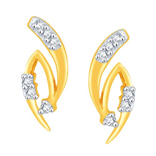 Giantti 14 carats Diamant pour femme Boucles d'oreille à tige (0,072 CT, VS/Si-clarity, Gh-colour)