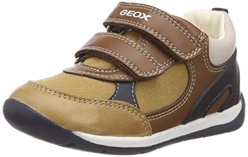 Geox Baby Jungen B Each Boy D Sneaker, Beige (Caramel/Navy C5gf4), 25 EU