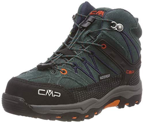 CMP Unisex Rigel Mid Wp Trekking-& Wanderstiefel , Schwarz (Jungle-B.Blue 77bn) , 34 EU