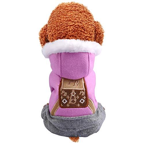 Reasoncool Haustier Kleidung Hund T Shirt Kleine Hunde Pullover Neue Mit Kapuze Vierbeinige Herbst Und Winter Komfort Katzen Hundekleidung Overall Mantel Samt Kleidung Outwear Korallen -