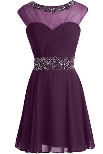 ivyd ressing Femme Ligne A col rond pierres Cocktail robe mousseline Prom robe robe du soir Traube