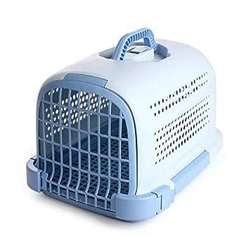 GLMAMK Boîte à air, Transporteur Portable pour Animaux de Compagnie, pour Petit Chien et Chat (Couleur : Bleu)