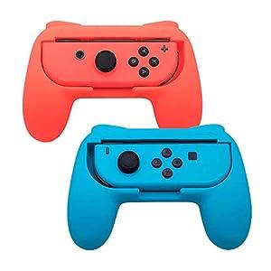 TOMSIN Griffe für Nintendo Switch Joy-Con, verschleißfeste Griff-Set mit Rutschfester Oberfläche aus Premiumgummi für…