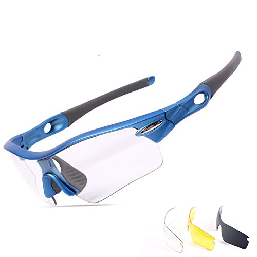 Alamor WHEELUP scolorimento Len occhiali occhiali fotocromici equitazione occhiali sportivi - Blu
