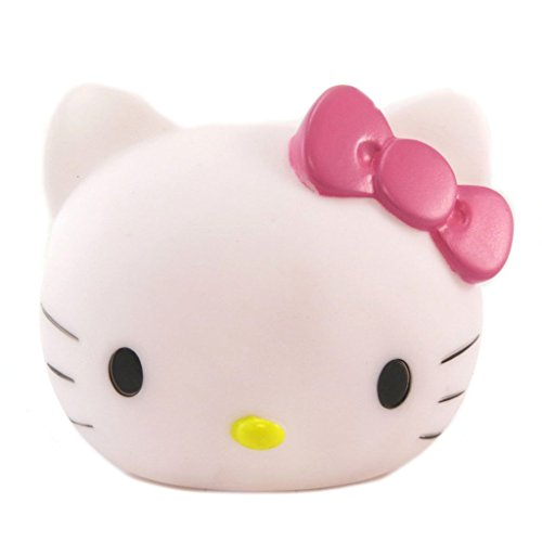 Hello Kitty P6483 - Lampe veilleuse 3D blanc rose - 11x10x9.5 cm