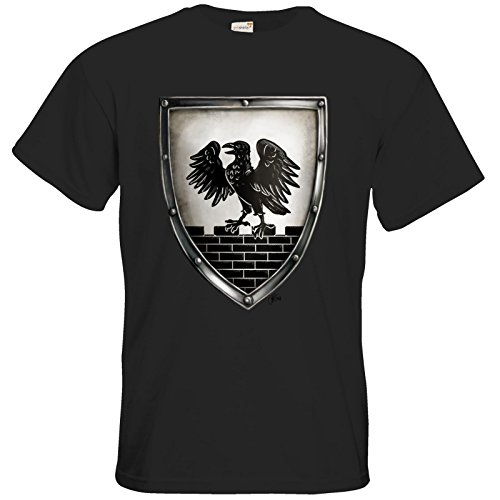 getshirts - Das Schwarze Auge - T-Shirt - Die Siebenwindküste - Wappen - Winhall Black