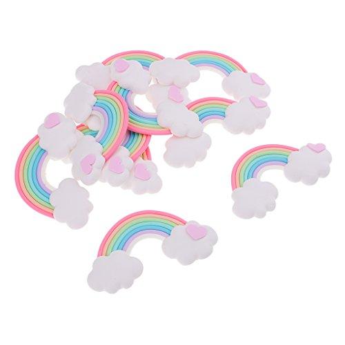 (Homyl DIY Party Deko Regenbogen Kindergeburtstag Geburtstag Unique Supplies Rainbow Wolken Set - Stil 2, 5 x 3,5 cm)