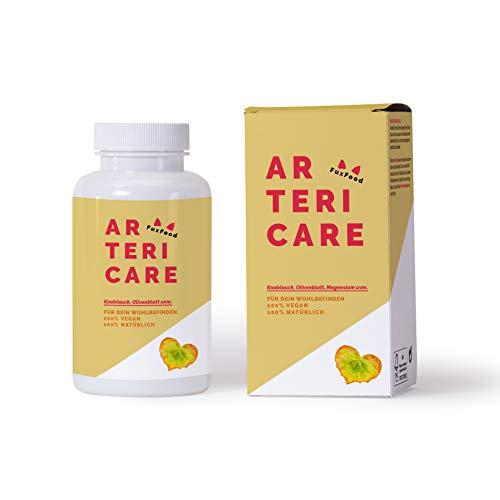 ArteriCare - Das 100{6043b3c94f3630c00225c32690a0f54aeeef91064e323a83bd5c25072ce88761} natürliche Kombi-Präparat mit Knoblauch, Olivenblatt, Q10, usw. | Pflanzenkraft anstatt Chemiekeule | 6 hochwertige und abgestimmte Zutaten | 30-Tage-Paket