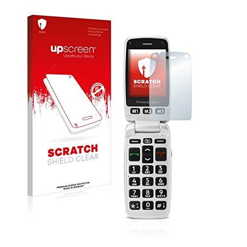 upscreen Scratch Shield Clear Bildschirmschutz Schutzfolie für Doro Primo 413 (hochtransparent, hoher Kratzschutz)