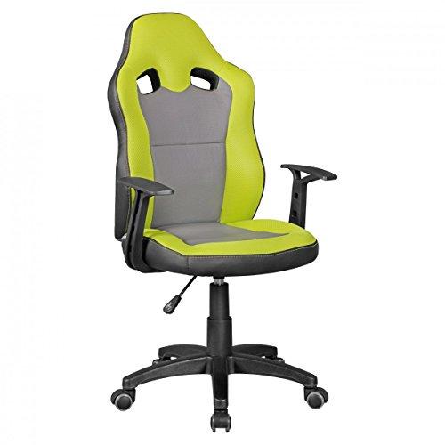 Amstyle Speedy Kinder-Schreibtischstuhl für Kinder ab 8, grün/grau