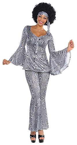 Kostüm Kinder Abba - Amscan International Adults Dancing Queen 70's Costume (UK 8-10)