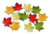 12er Set Filz Ahornblätter 3 x 3 cm Blatt in Filzplatte 4 Farben bunt Deko GODE C51
