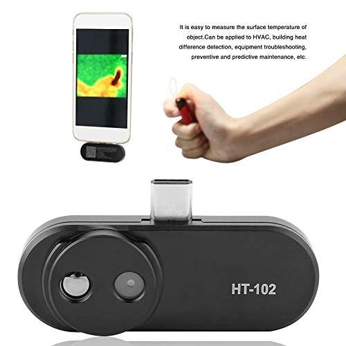 HT-102-Wärmebildkamera, externe USB C-Handheld-Infrarot-Wärmebildkamera Video-Bilder-Aufzeichnung für Android CB, HVAC