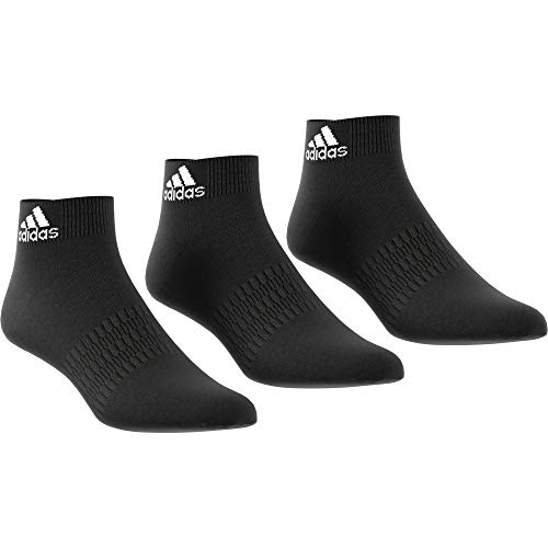adidas 3 Paar Light Ankle Socken, Black/Black/Black, XL