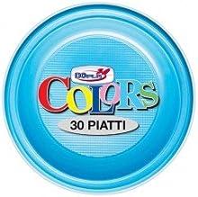 Platos de plástico azules Dopla 30 unidades