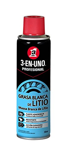 3 EN UNO Profesional 34453 - Spray grasa blanca de litio (250 ml)
