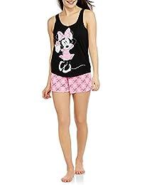 Disney Minnie Mouse Women's Pajama Hi-Lo Tank and Shorts 2-Piece Sleepwear Set