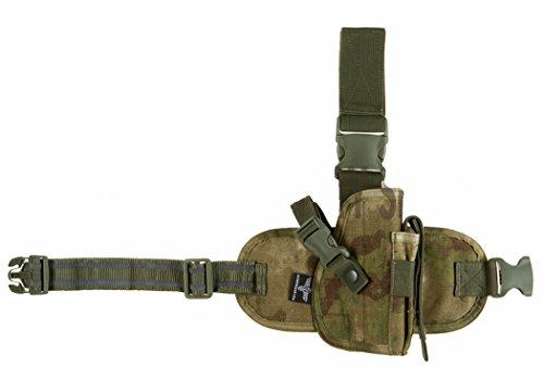 Invader Gear Tactical Drop Leg Panel Holster Atacs Everglade R/H (Belt Web Camo)