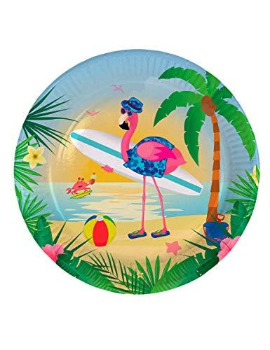 Hawaii-Teller Flamingo // 8 Stück, 23 cm Durchmesser