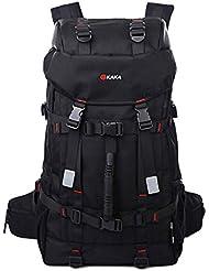 Super capacidad Mochila viaje hombre/al aire libre doble bolso de hombro Oxford tela 40 impermeable duradera cintur¨®n de bloqueo de alpinismo bolsa , black