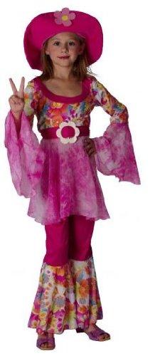 Hippie-Diva Mädchen 60er Sixties Hippie Kostüm Outfit