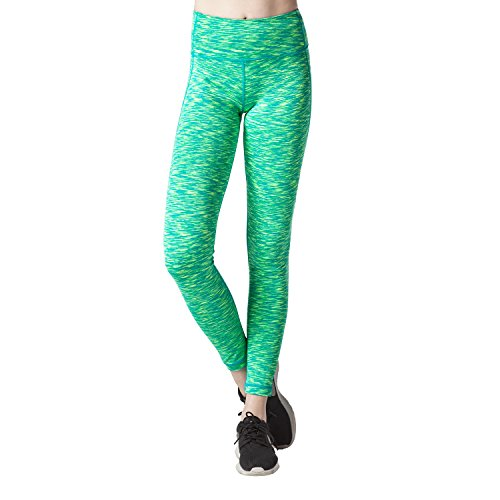 Lapasa Legging Pantalon de Sport Femme Yoga Fitness Gym Pilates Gaine large Vert multi-teintes