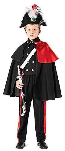 Costume di carnevale da carabiniere alta uniforme vestito per ragazzo bambino 7-10 anni travestimento veneziano halloween cosplay festa party 51163 taglia 7/s