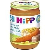 Hipp Karotten mit Mais und Bio-Kalb, 6er Pack (6 x 190g)