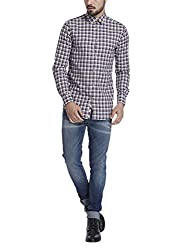 Jack & Jones Mens Casual Shirt (5713029725315_12111945Beige_Large)