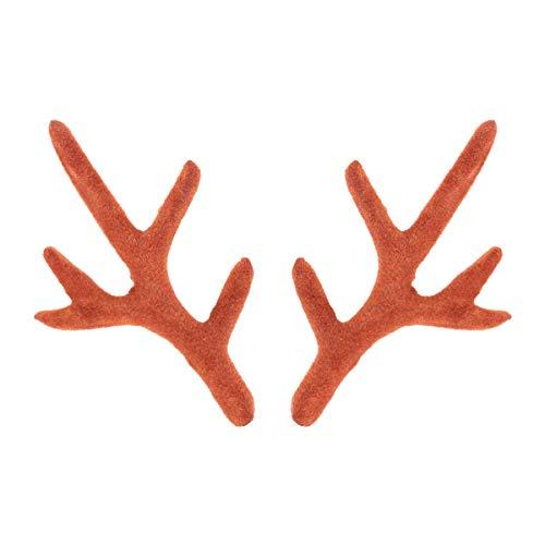 BESTOYARD Rentier Geweih Kopfschmuck DIY Weihnachten Stirnbänder Gastgeschenke Foto Requisiten 1 Paar 7,5 cm