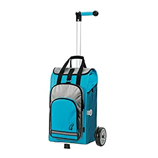 Andersen Shopping trolley Unus with bag Hydro turquoise, Volume 60L, thermal bag, ergonomic handle and aluminium frame