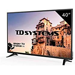 Televisore Led 40 Pollici Full HD Smart TD Systems K40DLM8FS. Risoluzione 1920 x 1080, 3x HDMI, VGA, 2x USB, Smart TV