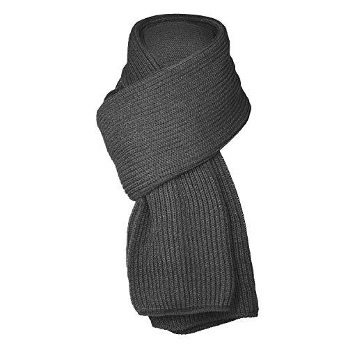 UPhitnis Einfarbig Schal Herren Damen | Winter Lässig Strickschal Warme Langschal mit Flecht Muster | Schwarz Weiß Grau Blau Rot
