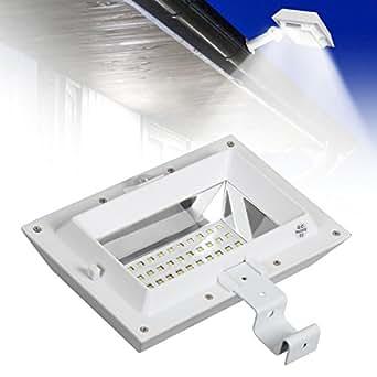 4er Set Kaltweiß 30 LEDs Solarleuchte Solar Wandlampe mit Bewegungsmelder