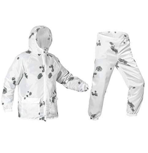 Eosphorus BLOT Schnee Camo Winter Masking Suit Ultradünn Windbreaker wasserabweisend, Weiß/Blot, Large -
