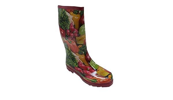 Zoth Bottes en caoutchouc pour femme légumes Multicolore