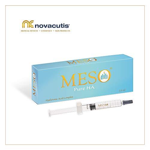 MESO Pure HA unvernetzte Hyaluronsäure (15 mg/ml) für Microneedling und Mesotherapie Behandlungen. Ein Komplex aus verschiedenen molekulargewichtigen Hyaluronsäuren (1x2,5 ml)