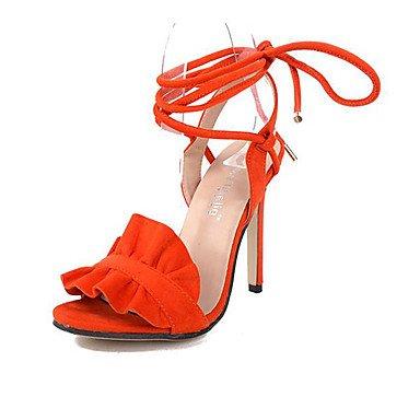 Tacchi Estate abito di vello Stiletto Heel Lace-up Arancione marrone Orange
