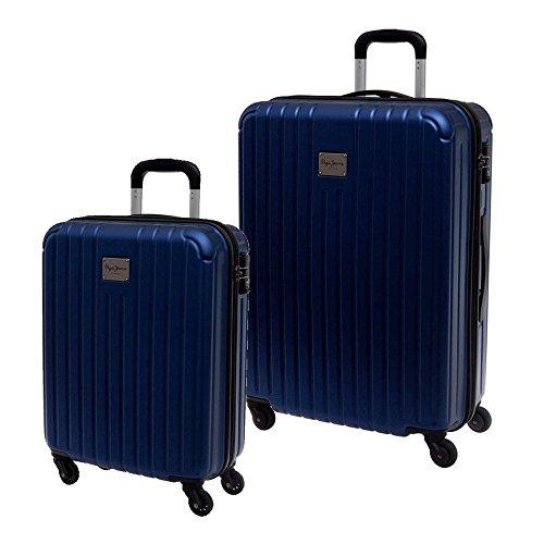 Pepe Jeans 7487951 Color Stripes Juego de Maletas, 78.73 Litros, Color Azul
