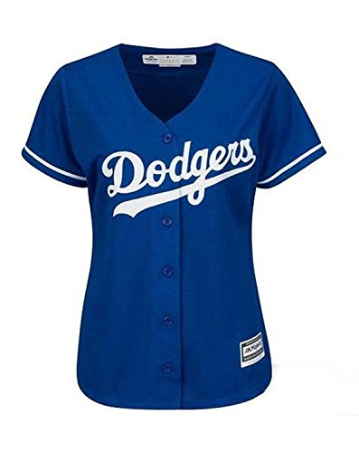 Los Angeles Dodgers Womens Cool Base Majestic Jersey Blue (Small) (Dodgers Bild)