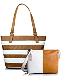 Mammon Women Handbag and sling bag combo (HS-combo-belt-CW, 40x30x10 CM)