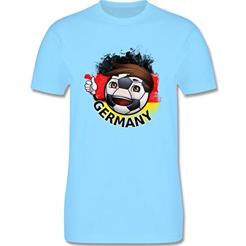 EM 2016 - Frankreich - Fußballjunge Deutschland - Herren Premium T-Shirt Hellblau