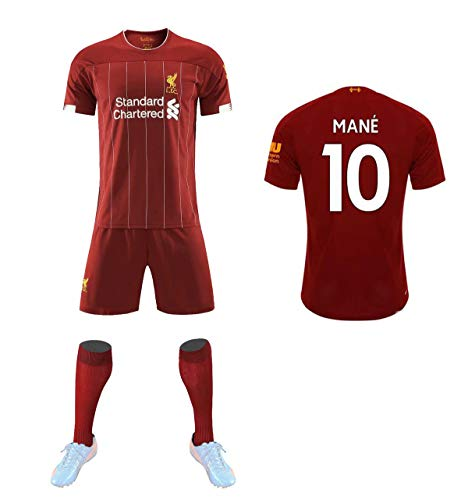 Jersey Liverpool Football Club 2019/2020 Heimtrikot + Socken, Kinder- und Jugendtrikot, 9 / # 10 / # 4 / # 13 Liverpool Red Super League-Trikot,No.10,L#175to180CM (Vans Kinder Bekleidung)