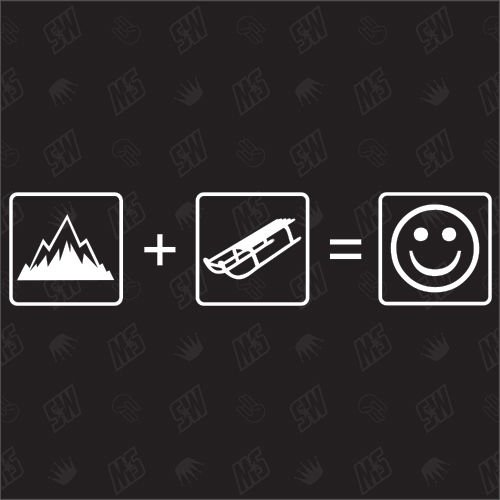 Price comparison product image Mountains And Sleigh = Smile Sticker