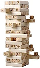 Hobnot 51 Pcs Challenging Maths Jenga for Adults and Kids. Make Maths Fun for Kids or Have Party Fun