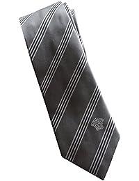 Versace Made In Italy Grey Stripe 100% Silk Men's Tie